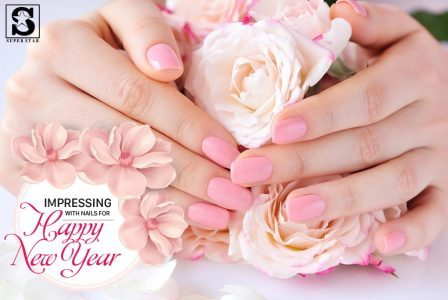 Nails for Happy New Year holidays