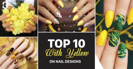 Top 10 with Yellow on nail designs
