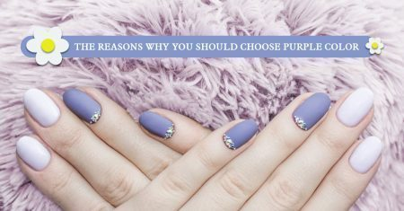 Challenge with the purple color on nail designs