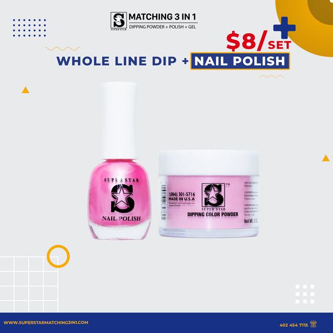Whole line dipping powder + nail polish